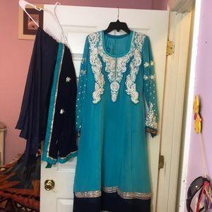 Chiffon Indian Dress. Party wear